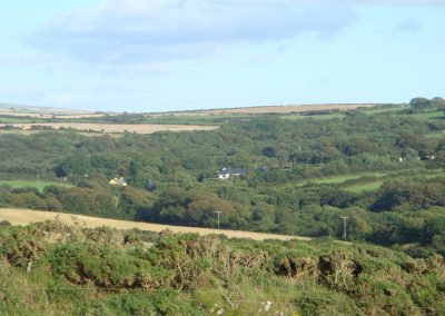 Rhyd y Fferm, protected by the surrounding landscape